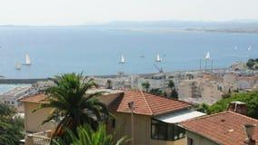 Panorama de Niza. Yates en el mar