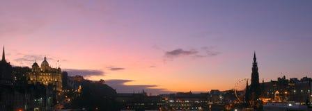 Panorama de Noël d'Edimbourg photographie stock