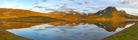 Panorama de Noruega Foto de archivo