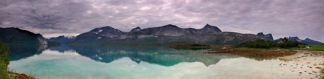Panorama de Noruega Fotos de archivo