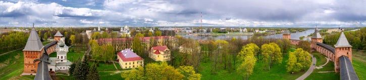 Panorama de Novgorod el Kremlin con la altura, Veliky Novgorod Fotografía de archivo libre de regalías