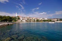 Panorama de Novi Vindolski en Croacia Imágenes de archivo libres de regalías