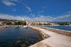 Panorama de Novi Vindolski en Croacia foto de archivo