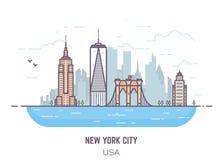 Panorama de Nueva York ilustración del vector