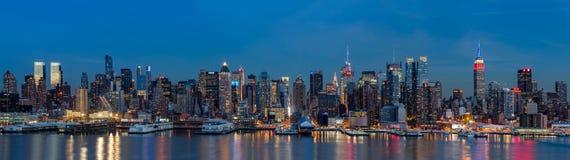 Panorama de Nueva York en presidentes Day Foto de archivo libre de regalías