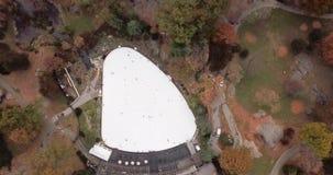 Panorama de Nueva York de la opinión aérea de Central Park almacen de video