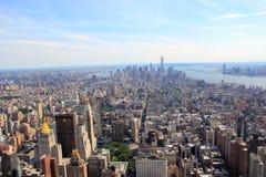 Panorama de Nueva York, Manhattan fotos de archivo libres de regalías