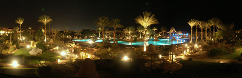 Panorama de nuit Photographie stock libre de droits