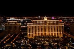 Panorama de nuit de Las Vegas images libres de droits