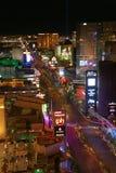 Panorama de nuit de Las Vegas Boulevard la bande Photos libres de droits