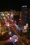 Panorama de nuit de Las Vegas Boulevard la bande Photographie stock libre de droits