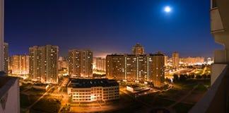 Panorama de nuit de Moscou Images libres de droits
