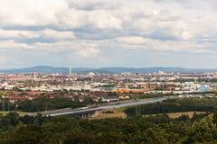 Panorama de Nuremberg Imagen de archivo