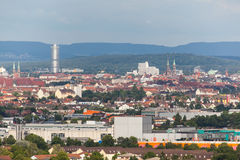 Panorama de Nuremberg Foto de archivo libre de regalías