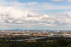Panorama de Nuremberg Imagen de archivo libre de regalías