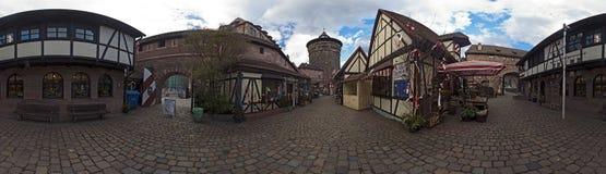 Panorama de Nuremberg Handwerkerhof fotografía de archivo libre de regalías