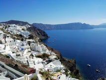 Panorama de Oia en la isla de Santorini Grecia foto de archivo libre de regalías