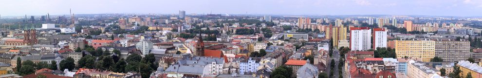 Panorama de Ostrava Imagen de archivo libre de regalías
