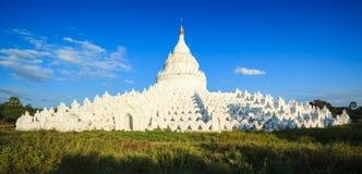Panorama de pagoda de Hsinbyume, Mingun, Mandalay, Myanmar Photographie stock