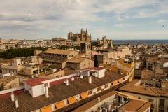 Panorama de Palma de Mallorca fotografia de stock