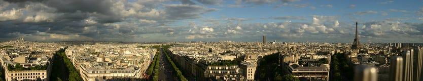 Panorama de París Imagen de archivo libre de regalías