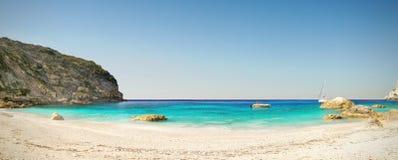 Panorama de paradis de plage images stock