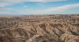 Panorama de parc national de bad-lands images stock