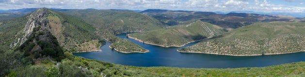 Panorama de parc national de Monfrague - Espagne Photos libres de droits