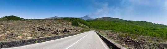 Panorama de parc national du mont Etna en Sicile image libre de droits