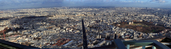 Panorama de Paris Photo stock