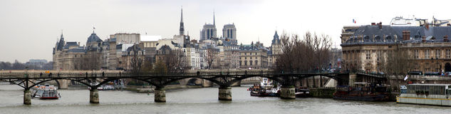 Panorama de Paris Images libres de droits