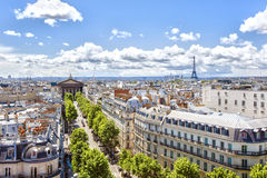 Panorama de Paris Photo libre de droits