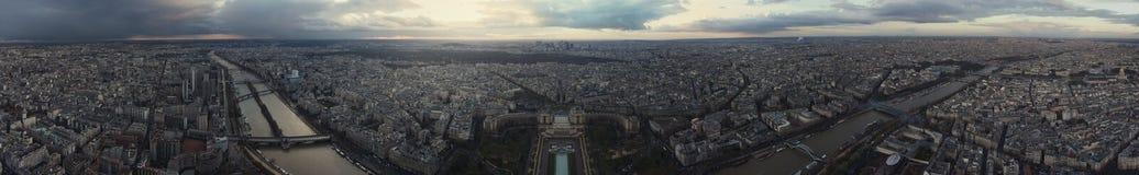Panorama de Paris après la tempête Photographie stock