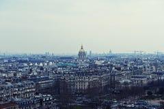 Panorama de Paris dans le bleu Photo stock