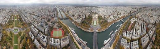 Panorama de Paris de tour d'Eifel Photos stock