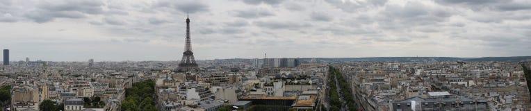 Panorama de Paris, des Frances et de Tour Eiffel Photographie stock