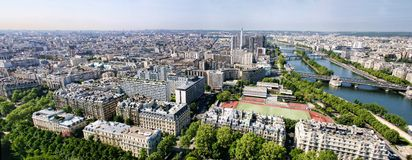 Panorama de Paris France Images libres de droits