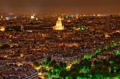 Panorama de Paris la nuit Photos libres de droits