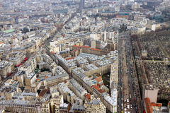 Panorama de Paris, secteur de Montparnasse Photographie stock