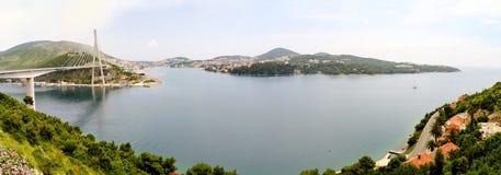 Panorama de passerelle de Dubrovnik images stock