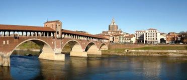 Panorama de Pavía Fotos de archivo libres de regalías
