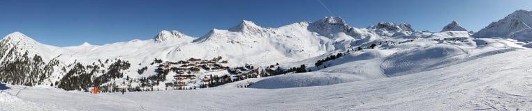Panorama de paysage de Belle Plagne Image libre de droits