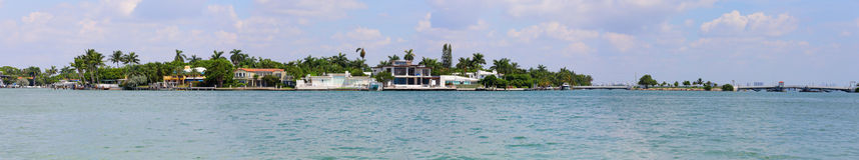 Panorama de paysage de Miami Photos stock