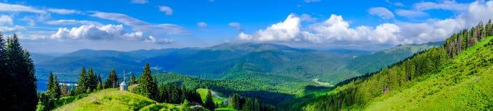 Panorama de paysage de montagne image libre de droits