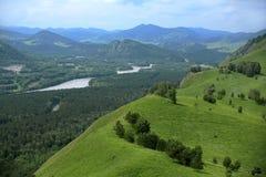 Panorama de paysage de montagne Image stock