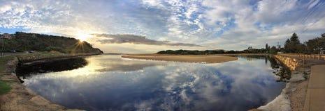 Panorama de paysage de Narrabeen Images stock