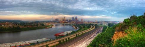 Panorama de paysage urbain de rue Paul Minnesota Photo stock