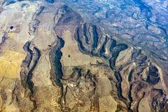 Panorama de paysage urbain de vue aérienne de Mexico de montagne de plateu de canyons de montagnes Image stock