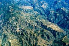 Panorama de paysage urbain de vue aérienne de Mexico de montagne de plateu de canyons de montagnes Photos libres de droits