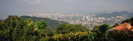Panorama de Penang George Town de colline de Penang, Penang George Town, Malaisie photographie stock libre de droits